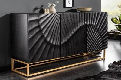 Designová komoda Shayla 140 cm černé mango