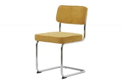 Designová konzolová židle Denise žlutá