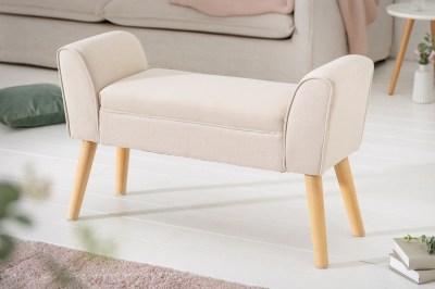 Designová lavice Dafina 90 cm len béžová