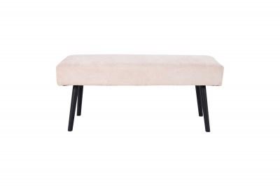 Designová lavice Elaina pískový manšestr
