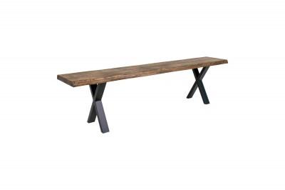 Designová lavice Jonathon 180 cm kouřový dub