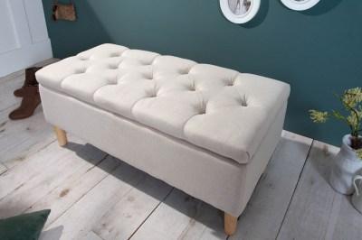 Designová lavice Queen 100 cm béžová