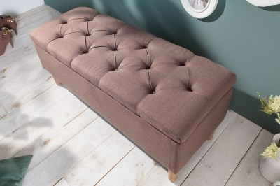Designová lavice Queen 100 cm kávová