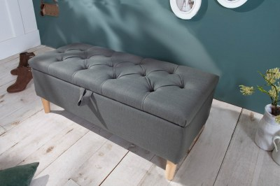 Designová lavice Queen 100 cm šedá