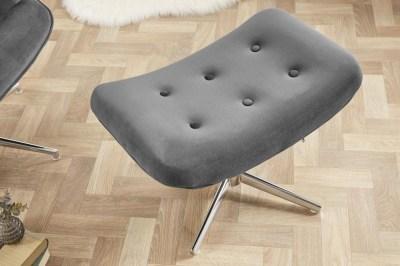 Designová otočná taburetka Joe - šedý samet