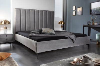 Designová postel Gallia 160 x 200 cm stříbrno-šedá