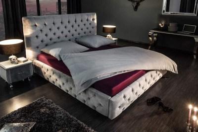 Designová postel Laney 160x200 cm šedý samet
