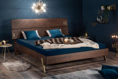 Designová postel Massive 180 x 200 cm akácie vinegar