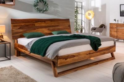 Designová postel Massive 180 x 200 cm přírodní Sheesham