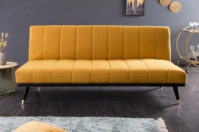 Designová rozkládací sedačka Halle 180 cm hořčicová žlutá