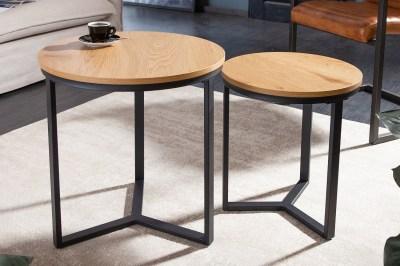Designová sada odkládacích stolků Kiana imitace dub