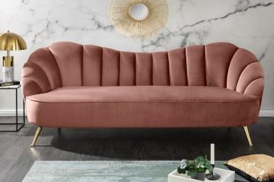Designová sedačka Adalia 220 cm starorůžová