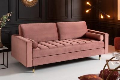 Designová sedačka Adan 225 cm starorůžový samet