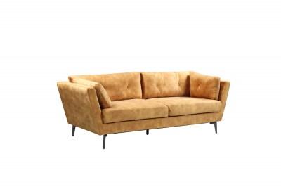 Designová sedačka Billy 220 cm hořčičný samet