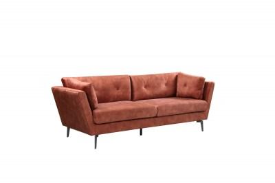 Designová sedačka Billy 220 cm rezavohnědý samet