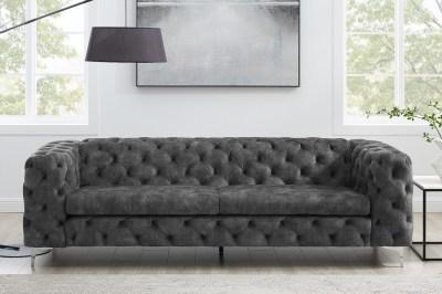 Designová sedačka Rococo 240 cm tmavě šedá