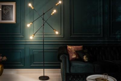 Designová stojanová lampa Walter černá