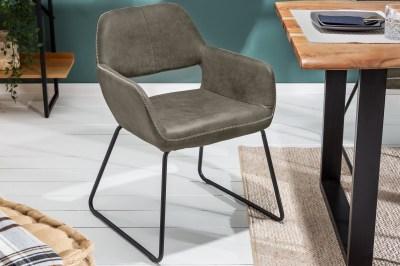 Designová stolička Derrick 77 cm antik šedá