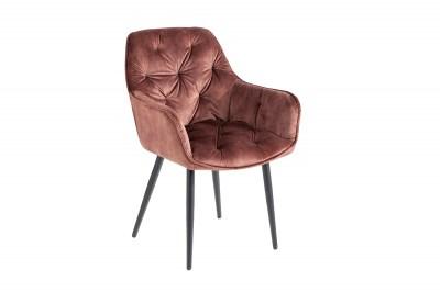 Designová stolička Garold hnědý samet