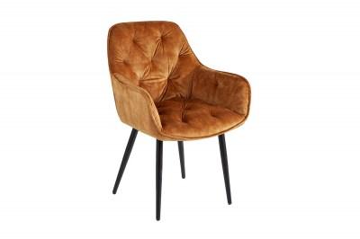 Designová stolička Garold hořčicově-žlutý samet