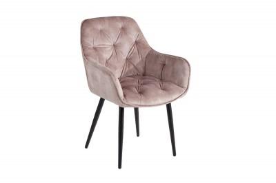 Designová stolička Garold šampaňský samet