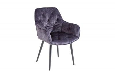 Designová stolička Garold šedý samet