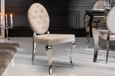 Designová stolička Rococo II béžová