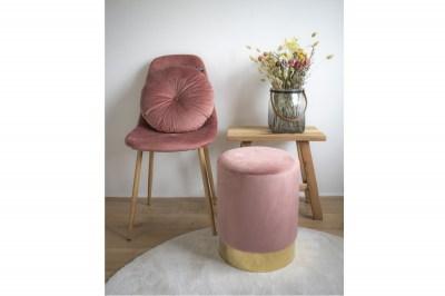Designová taburetka Eddie, růžový samet