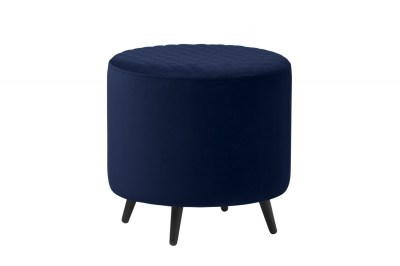 Designová taburetka Hallie 45 cm modrý samet