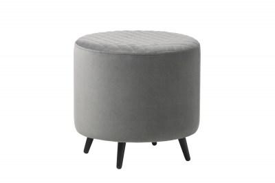 Designová taburetka Hallie 45 cm šedý samet