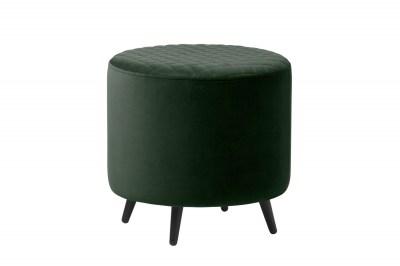 Designová taburetka Hallie 45 cm zelený samet