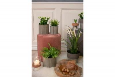 Designová taburetka Kiera, růžový samet