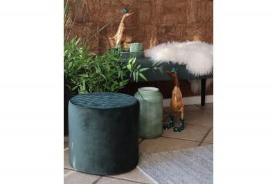 Designová taburetka Kiera, zelený samet