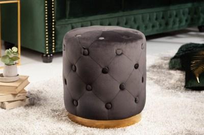 Designová taburetka Rococo 36 cm černá