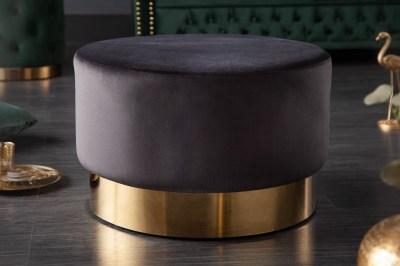 Designová taburetka Rococo 55 cm černá