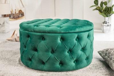 Designová taburetka Rococo 75 cm zelená