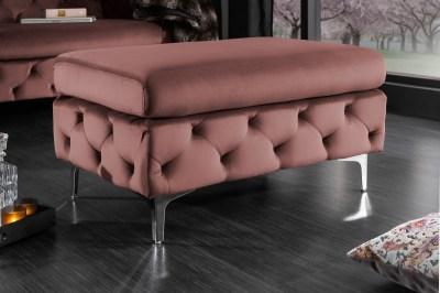 Designová taburetka Rococo starorůžová