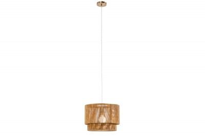 Designová závěsná lampa Desmond 39 cm papírový ratan