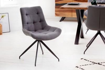 Designová židle Amiyah světle šedá-černá