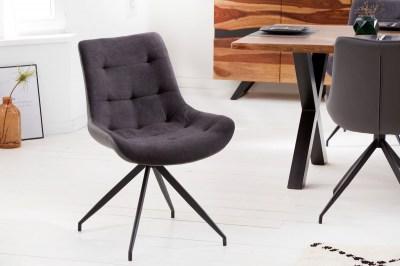 Designová stolička Amiyah tmavě šedá-černá
