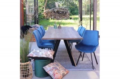 Designová židle Brinley modrý samet