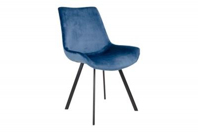 Designové židle Brinley modrý samet
