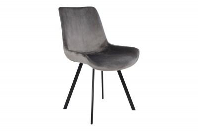 Designové židle Brinley šedý samet