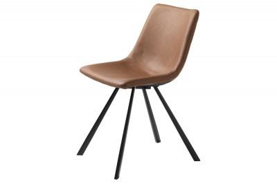 Designová židle Claudia světlehnědá
