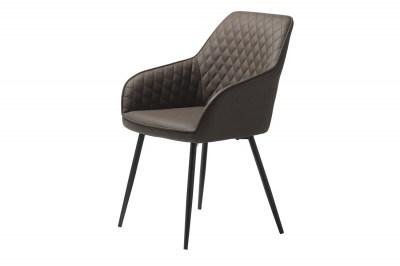 Designová židle Dana tmavohnědá koženka