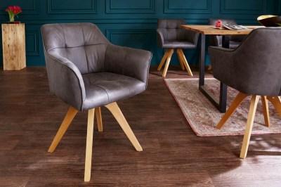 Designová židle Giuliana s područkami antik šedá