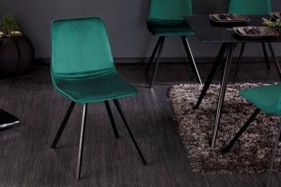 Designová židle Holland smaragdově zelený samet