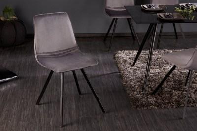 Designová židle Holland tmavošedý samet
