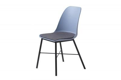 Designová židle Jeffery matná modrá