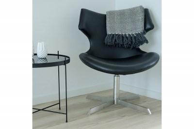 Designová židle Khloe černá koženka